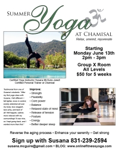 Summer Yoga at Chamisal with Susana
